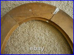 Antique Gilded Oval Frame Eagle USA No glass Military American Flag