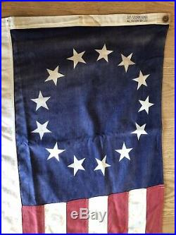 Antique Vintage Storm King 13 Star American Flag 3' x 5' All Cotton Made In USA