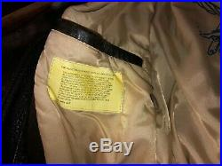 Avirex leather jacket type G-1 USN mens XL Patches USA flag genuine