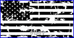 BIG USA Distressed American Flag Decal LARGE size for car, truck, van, suv, boat