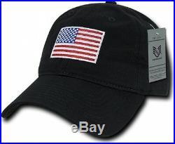 Black American Flag Ball Cap Graphic Relaxed Patriotic USA Baseball Cap Hat