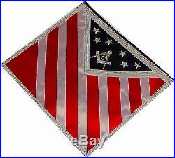 Blue Lodge Patriotic American Masonic Freemason U. S. Flag Apron