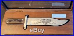 Buck Custom USA 903 Limited Large Bowie Knife Old Glory American Flag & Case