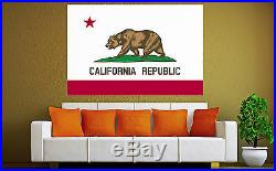 California State Flag Canvas Art Prints USA Photo Print Ca Home Decor x 6 5 4 3