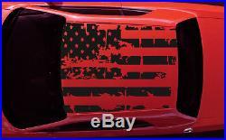 Challenger Roof USA American Destressed Flag Vinyl Decal Sticker