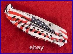 Cuda USA (Camillus) EDC D Ralph AMERICAN flag frame lock mint in box knife