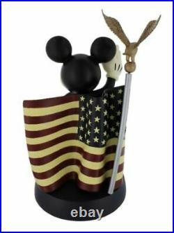 DISNEY MICKEY MOUSE with AMERICAN FLAG with EAGLE USA BRAND NEW FREE SHIPPING