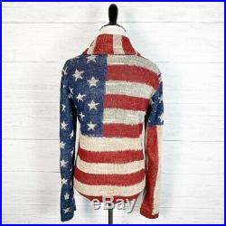Denim & Supply Ralph Lauren American Flag womens Small S Sweater Cardigan NEW