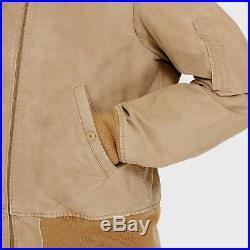 Denim Supply Ralph Lauren Men Military USA Flag Shearling Flight Bomber Jacket