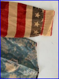 Denim & Supply Ralph Lauren Mens American Flag USA Bandana Shirt LARGE L