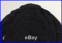 Denim Supply Ralph Lauren Women Military USA Army Tattered American Flag Jacket