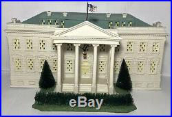 Dept 56 The White House American Pride Collection with Scroll & USA Flag 57701