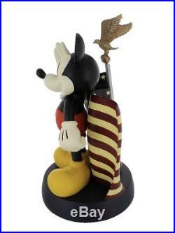 Disney Mickey Mouse Big Fig Figure Mickey Saluting American Flag With Eagle USA
