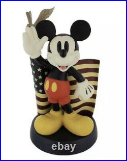 Disney Mickey Mouse Big Fig Figure Mickey With American Flag With Eagle USA 14