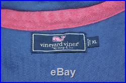 EUC Vineyard Vines USA American Flag Blue Half Zip Sweatshirt Sz XL