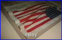 Estate Vintage Rare Original WWIl WWI Blood Chit Numbered USA American Flag &