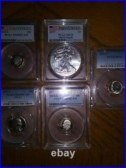 FIRST STRIKE USA FLAG PERFECT 2017 Silver American Eagle MS 70 PCGS and MORE