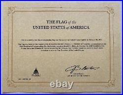 Flag Flown Over U. S. Capitol During Biden / Harris Inauguration 01/20/21 (Beyer)