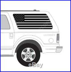 Ford Excursion American USA Flag Decals fits Side window EX1