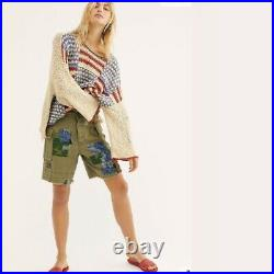 Free People USA Flag Free People Liberty Oversized Patch Sweater Large L New