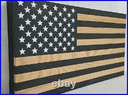 Gun Concealment Cabinet, Lockable Hidden Gun Storage Dark Rustic American Flag