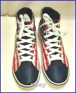 HEELYS Men Size 12 Hustle USA American Flag Skate Shoes Red White Blue Sneakers