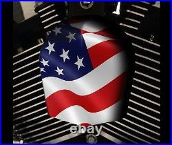 Harley Davidson Custom Horn cover Touring Dyna Softail Sportster M8 USA FLAG