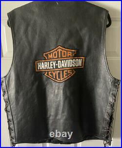 Harley Davidson Leather Vest XL