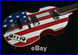 Hofner HCT 500/1-USA Contemporary BEATLE BASS AMERICAN FLAG TOASTER PICKUPS