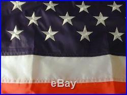 Huge Size USA 10 X 15 Embroider Nylon American Flag