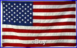Huge USA 10x15 Ft US American Flag Sewn Stripes/Embroidered Stars/Brass Grommets