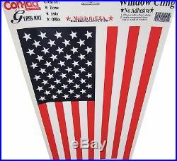 Huge USA Us American Flag Decal Window Cling Patriotic Sticker Auto Boat Vinyl