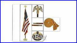 Indoor American Flagpole Kits / 5 Pieces / USA Flag