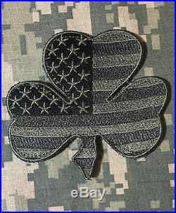 Irish American USA Flag Shamrock Lucky Clover Us Army Acu Patch Velcro Brand