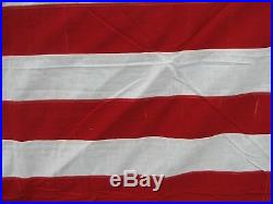 Large 48 Sewn Star & Stripe Valley Forge US Flag WWI/WWII Era American USA