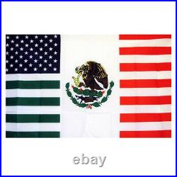 Large American Mexican Combination Flag USA MEXICO Friendship 3x5-ft US MX Flags