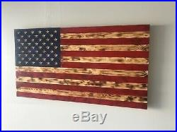 Large Rustic American Wooden Flag USA Handmade