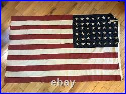 Large Vintage 48 Star American U. S. Flag WW2 Era USA See Pics Make Offer
