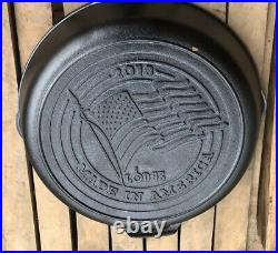 Lodge Made in America Series 2018 Cast Iron Skillet, American Flag 10.25 Inch