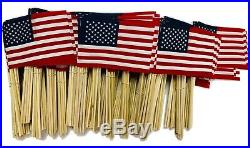 Lot Of -500- 4x6 Inch Us American Hand Held Stick Flags Wholesale Made In USA