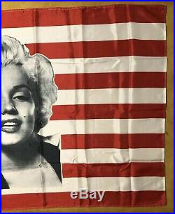 Marilyn Monroe American Flag USA Original Vintage Tapestry Flag Banner Pin-up