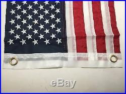 Marine American Flag USA 18.5X10.6 Stainless Steel Rail Mount Flag Staff Pole