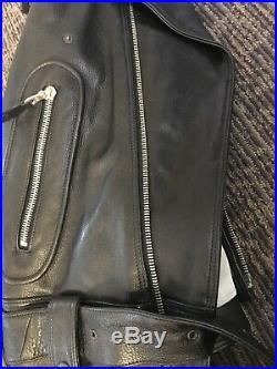 Men's 42 MICHAEL HOBAN NORTH BEACH American USA Leather Jacket Zipper NBL