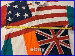 Men's Britches Great Outdoors Flags Rugby Shirt American, Canada, British, Irish