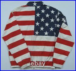 Men's Polo Ralph Lauren Full-Zip American Flag Cotton Jacket Size Medium NWT