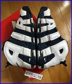 NEW Nike Air More Uptempo Olympics Mens Size 9.5 Scottie Pippen 414962-104 USA