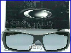 NEW OAKLEY SI GASCAN Matte BLACK USA Flag POLARIZED Galaxy Mirror Sunglass 9014