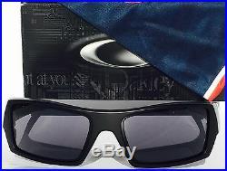NEW OAKLEY SI GASCAN Matte BLACK w USA FLAG Grey lens Sunglass 9014 11-192
