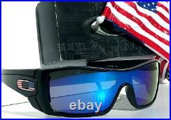 NEW Oakley BATWOLF Black Matte USA Flag POLARIZED Galaxy Blue Sunglass 9101-59