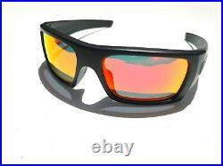 NEW Oakley Det Cord Black Matte USA Flag POLARIZED Galaxy Ruby Sunglass 9253-11